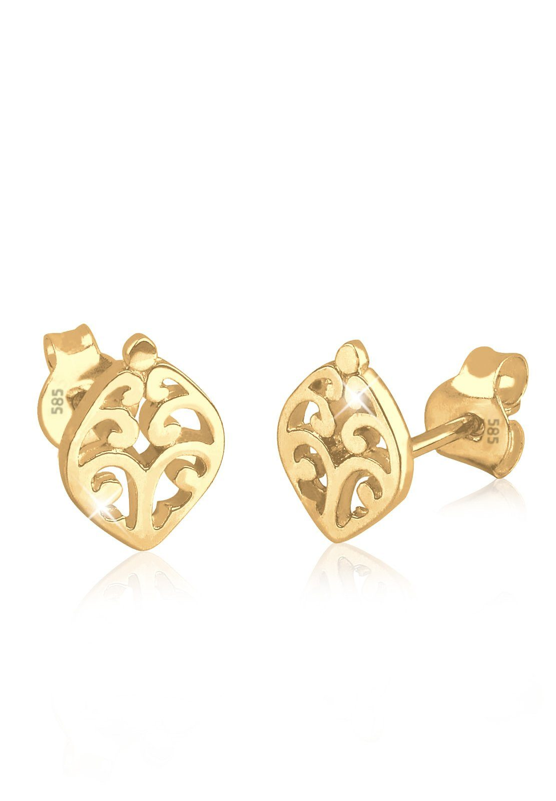 Elli Ohrringe »Ornament 585 Gelbgold«
