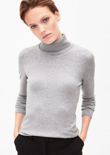 s.Oliver BLACK LABEL Feinstrickpulli mit Turtleneck