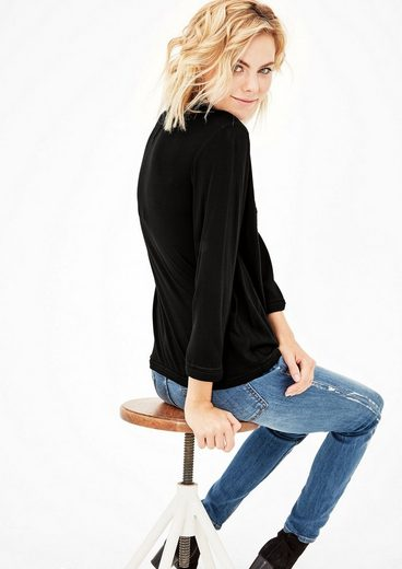 s.Oliver RED LABEL Blusenshirt mit Ethno-Stickerei