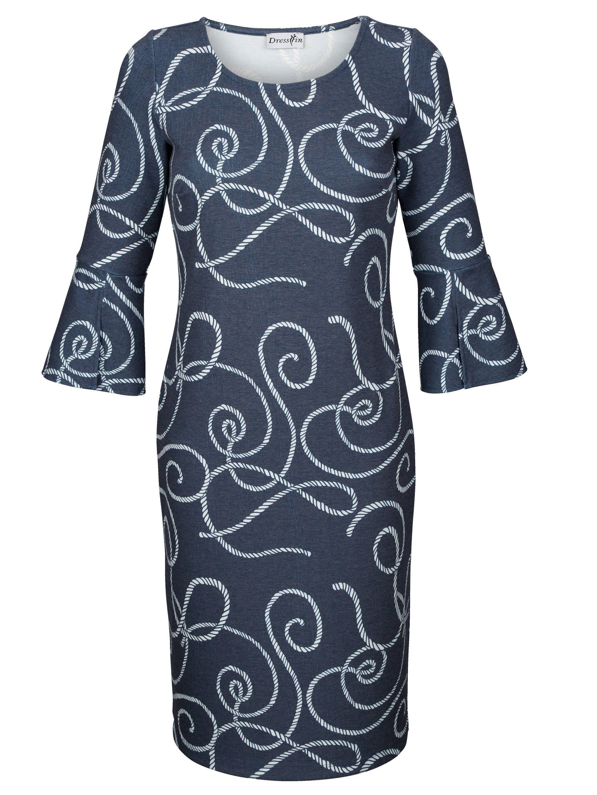 Dress In Kleid mit maritimen Knotendruck