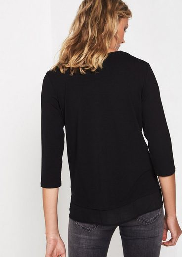 COMMA 3/4-Arm Jerseyshirt mit Frontprint