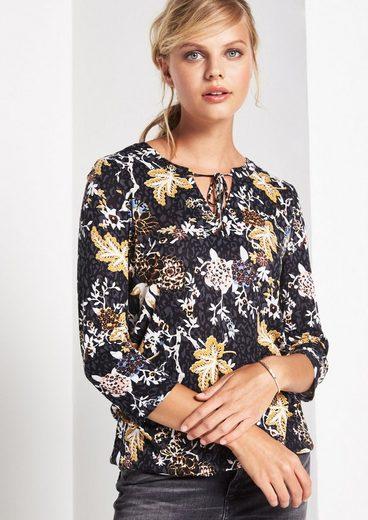 COMMA 3/4-Arm Shirt mit farbenprächtigem Alloverprint