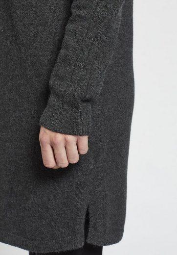khujo Strickkleid VELIA, mit Zopfstrick auf den Ärmeln