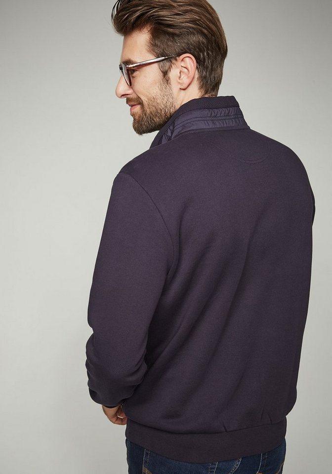 pierre cardin sweatshirt in piqu optik regular fit. Black Bedroom Furniture Sets. Home Design Ideas