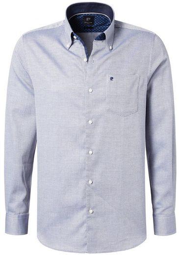 PIERRE CARDIN Hemd in Bicolor-Struktur - Modern Fit Cotton Comfort