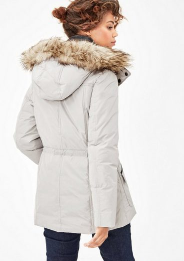 s.Oliver RED LABEL Winterjacke mit Fake Fur