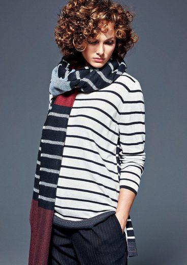 TRIANGLE Layer-Pullover mit Lurex-Bündchen