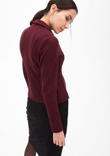 s.Oliver BLACK LABEL Taillierter Struktur-Blazer