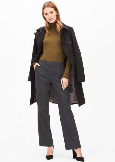 s.Oliver BLACK LABEL Rachel Straight: Gerade Flanellhose