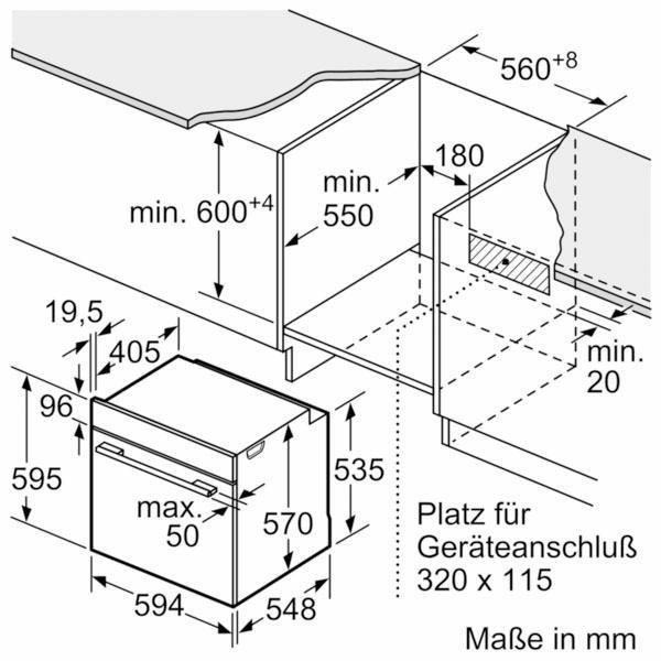 Küchengroßgeräte - SIEMENS Einbaubackofen iQ500 HB517ABS0, mit cookControl Funktion  - Onlineshop OTTO