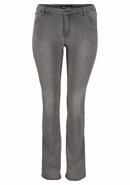 Hosen - Arizona Bootcut Jeans »Ultra Stretch« Mid Waist › grau  - Onlineshop OTTO