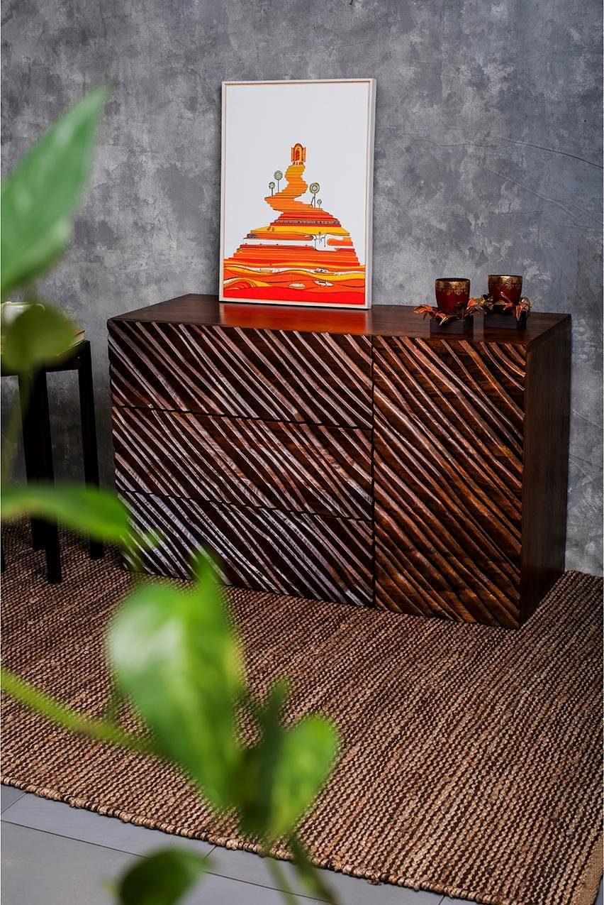 Home affaire Sideboard »Niagara«, mit gestreiften Fräsungen auf den Fronten der Türen, Schubladen, Breite 120 cm
