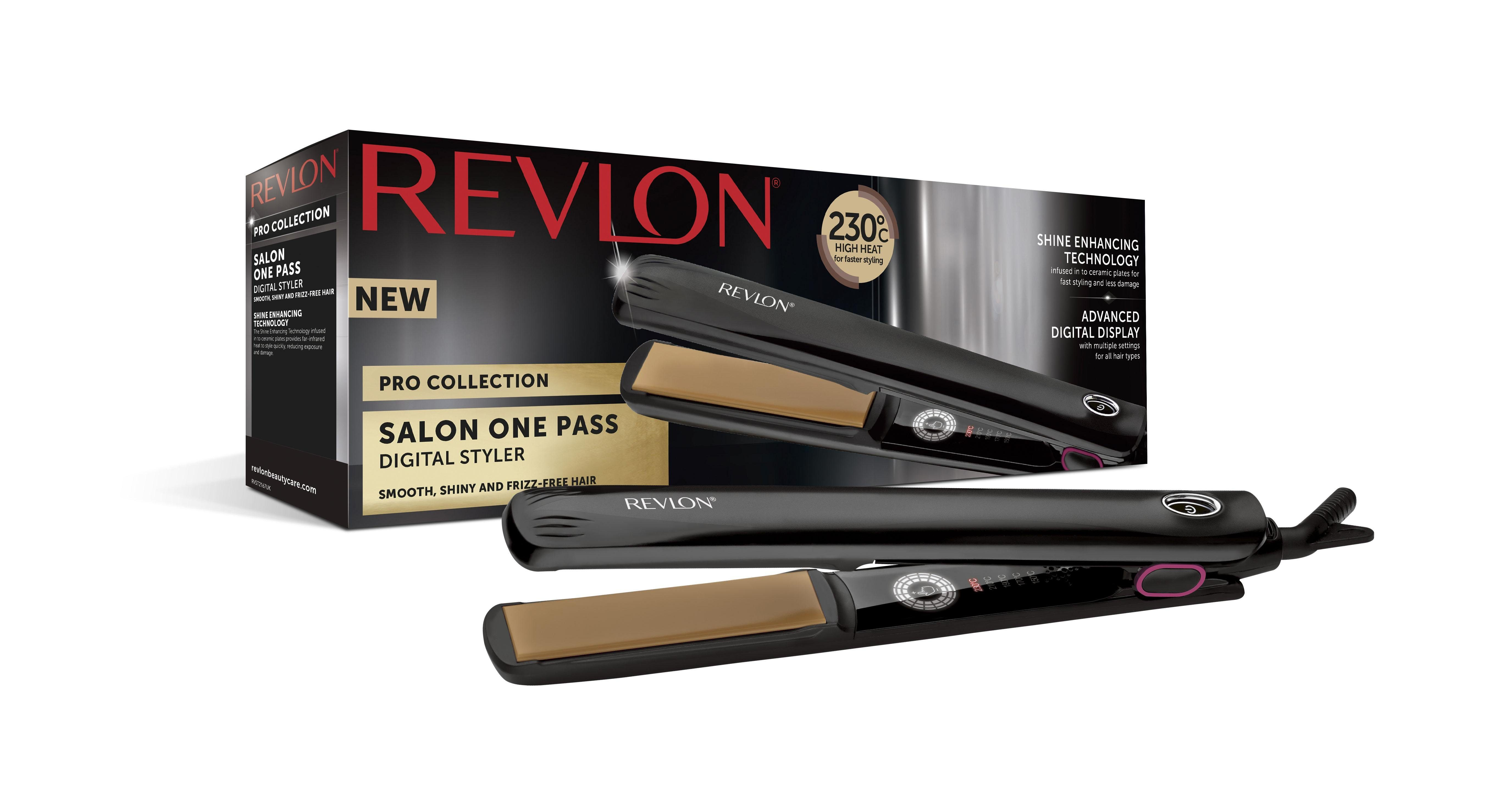 Revlon Glätteisen »RVST2167E« Keramik-Turmalin-Beschichtung, Salon Digital One Pass