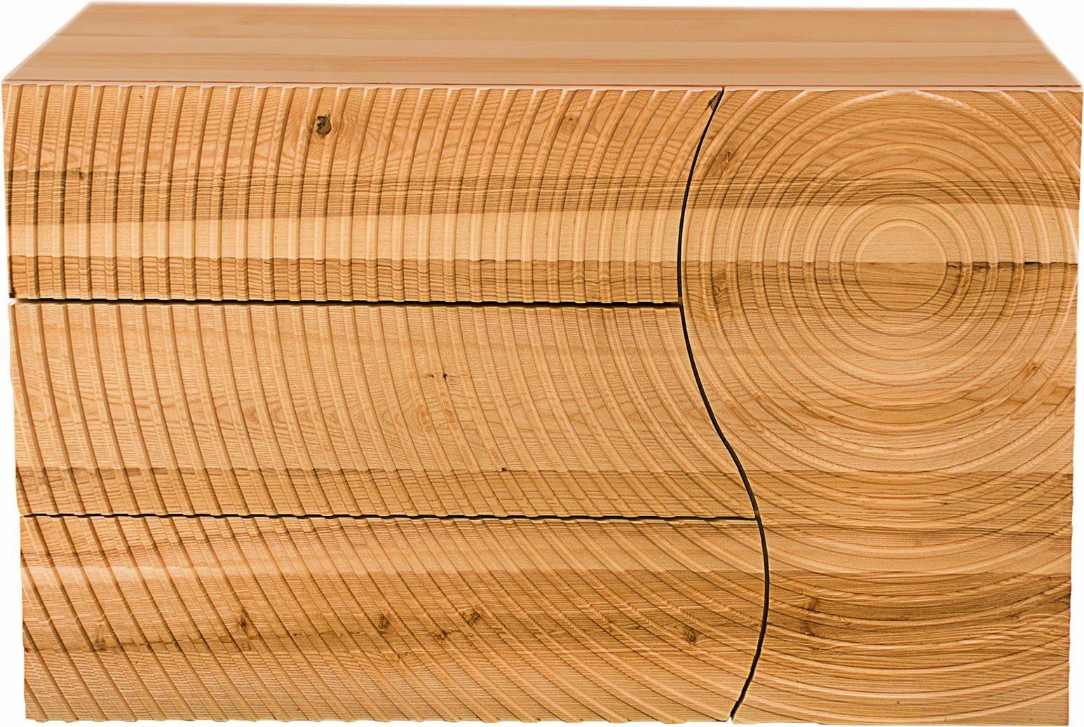 Home affaire Sideboard »Swirl«, mit eingearbeiteten Kreisfräsungen in der Front und 3 Schubladen, Breite 120 cm