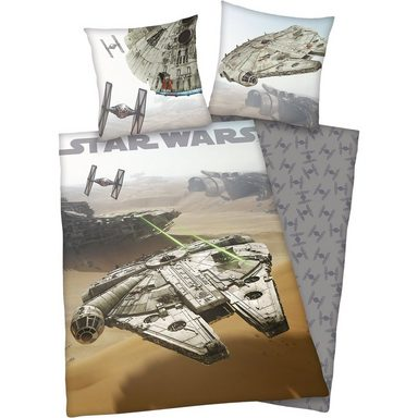 Herding Kinderbettwäsche Star Wars, Flanell, 135 x 200 cm
