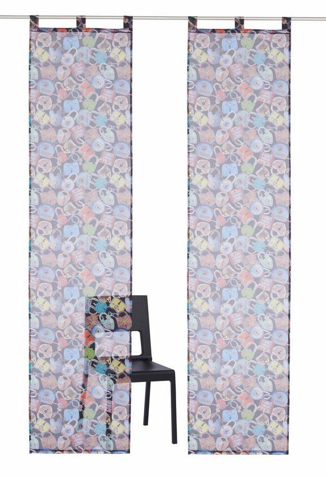 schiebegardine padlock bruno banani schlaufen 2 st ck. Black Bedroom Furniture Sets. Home Design Ideas