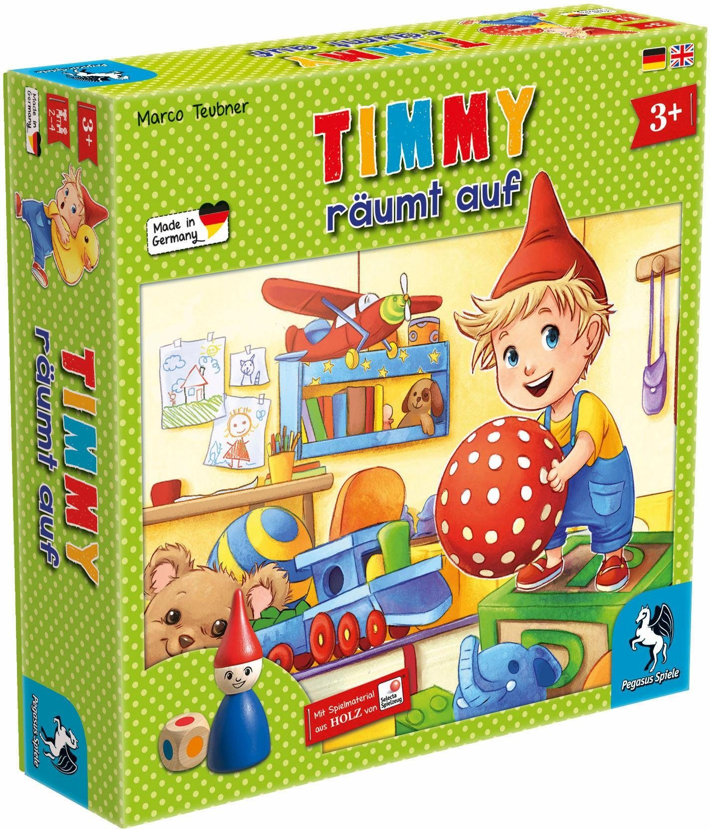 Pegasus Spiele Kinderspiel, »Timmy räumt auf«
