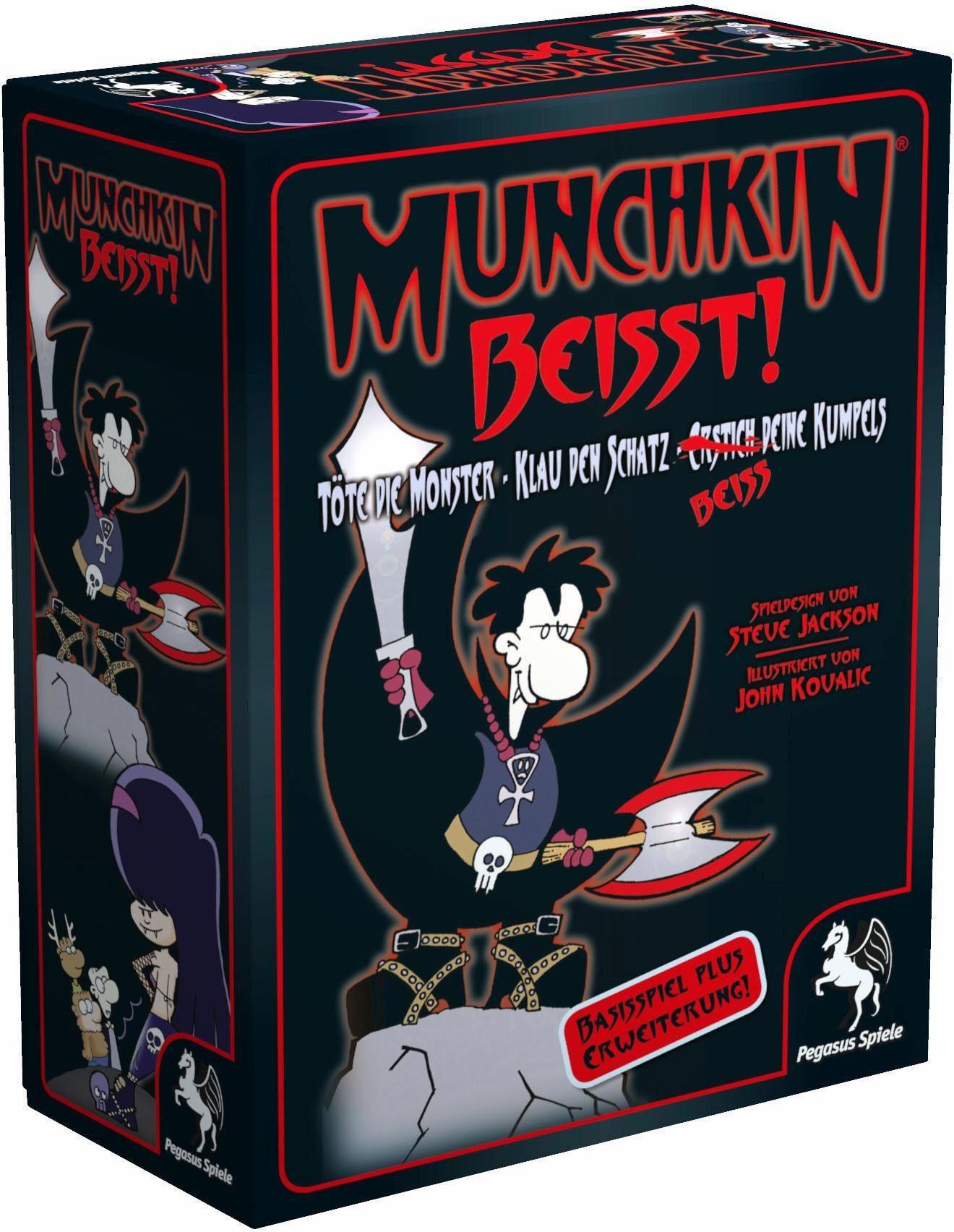 Pegasus Spiele Kartenspiel, »Munchkin Beisst!«