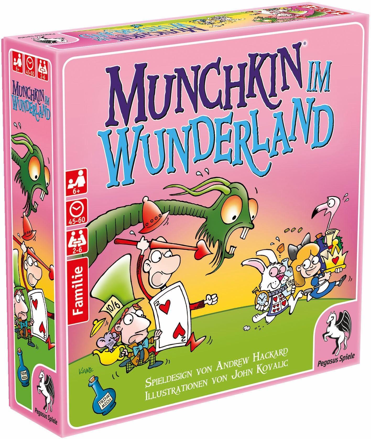 Pegasus Spiele Familienspiel, »Munchkin im Wunderland«