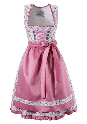Damen Marjo Dirndl kurz mit seitlichem Zipp rosa | 04058057047635