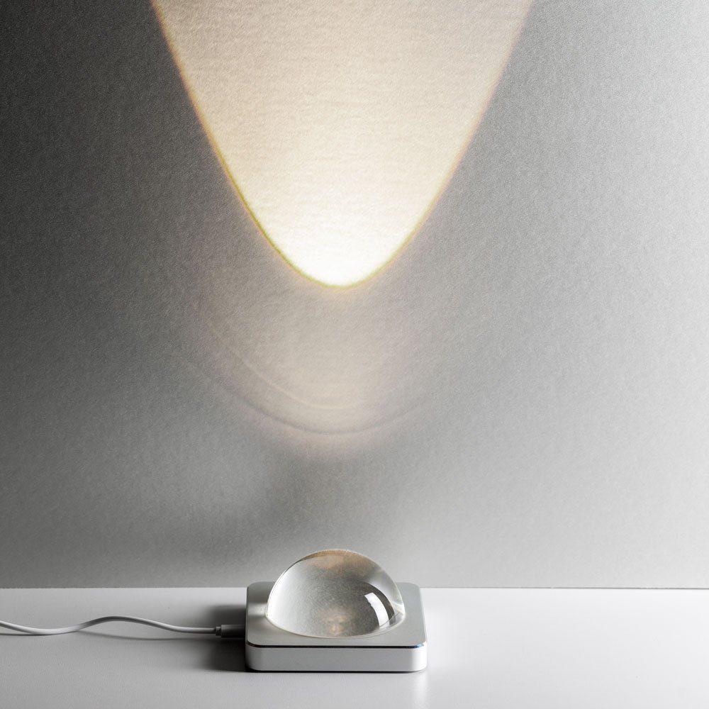 Licht-Trend Tischleuchte »Eye LED mit Touchdimmer Silber«