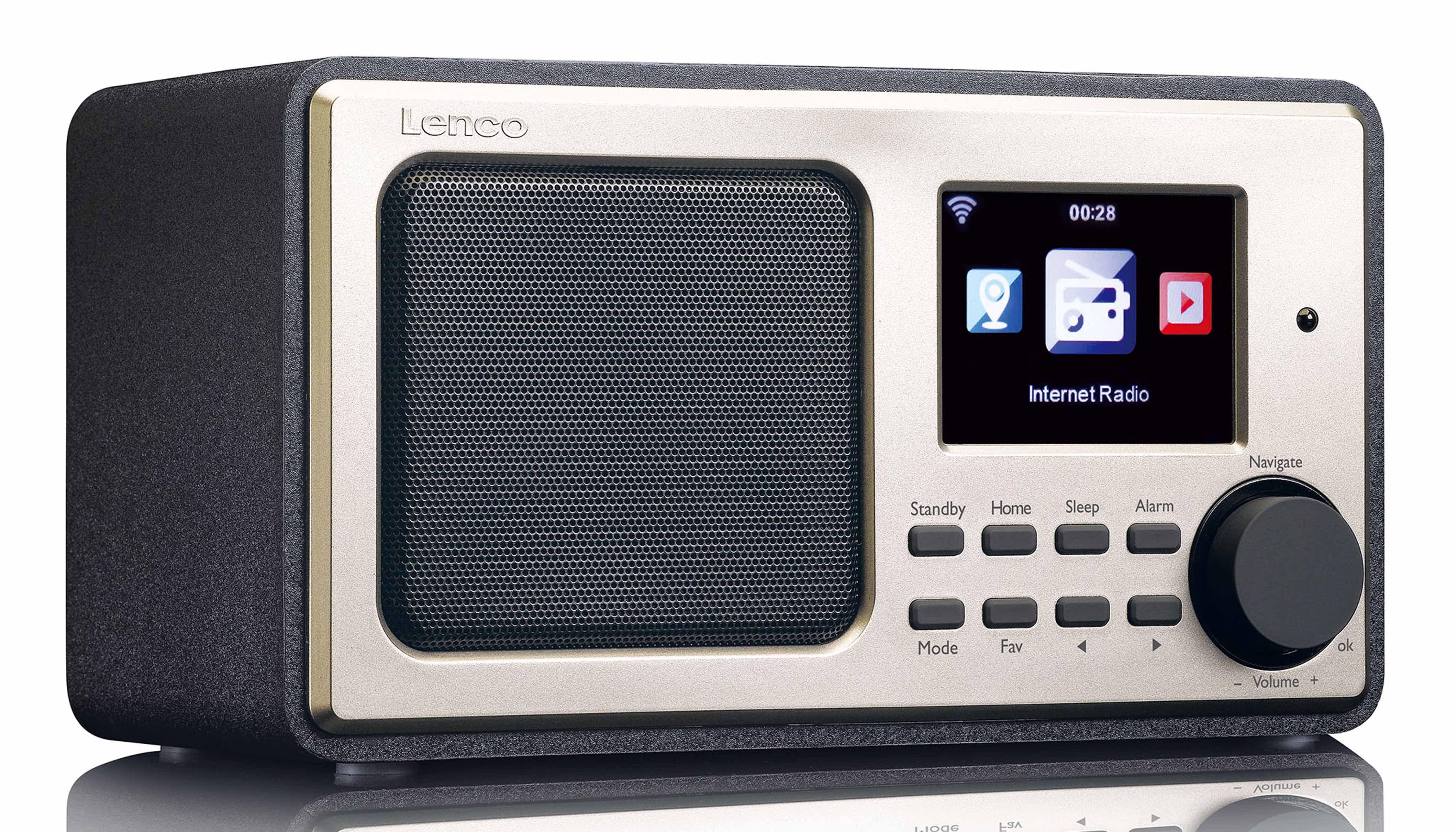 Lenco Internetradio & FM Radio mit RDS »DIR-110BK«