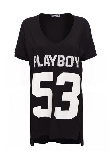 Playboy Dress With Fashionable Front Print