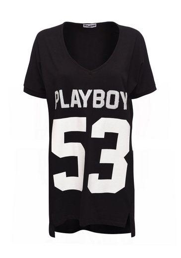 Playboy Kleid mit modischem Frontdruck