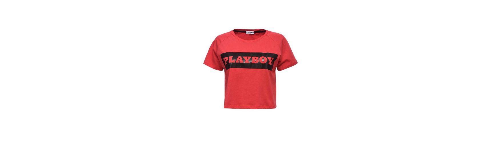 Playboy T-Shirt mit Markenprint Offizielle Seite Günstiger Preis CzBgDS7