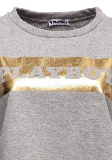Playboy Sweatshirt mit angesagtem Frontdruck