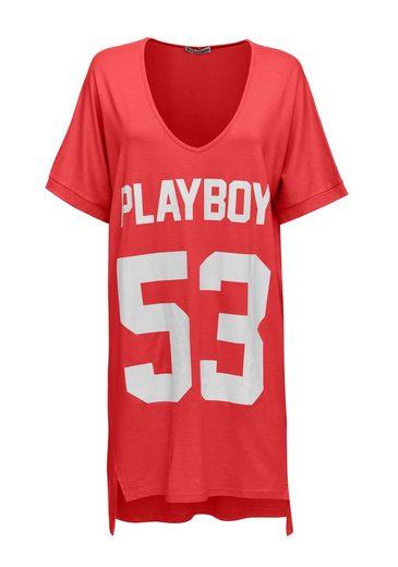 Playboy Long T-shirt Mit Coolem Frontdruck