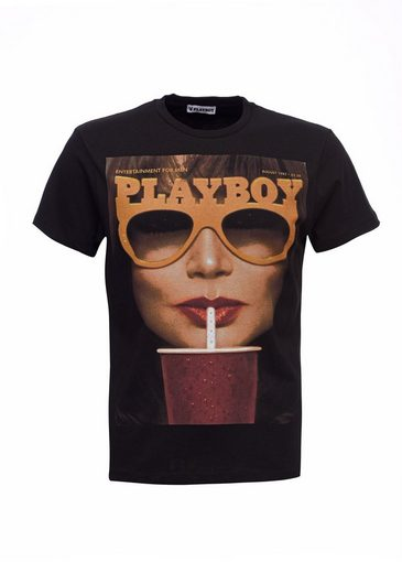 Playboy T-Shirt mit Motivdruck