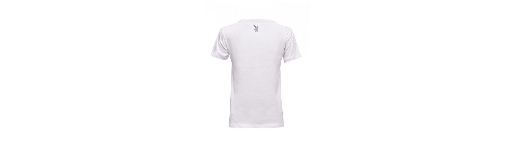 Playboy T-Shirt mit coolem Print Billige Neue Stile YA6G1