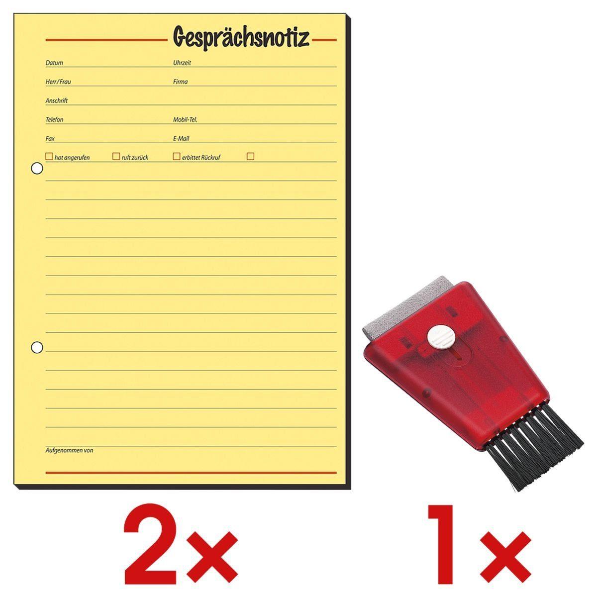 Sigel 2 Formularvordrucke GE513 inkl. 1 PC-Cleaner »Gesprächsnotiz«, (1 Set)