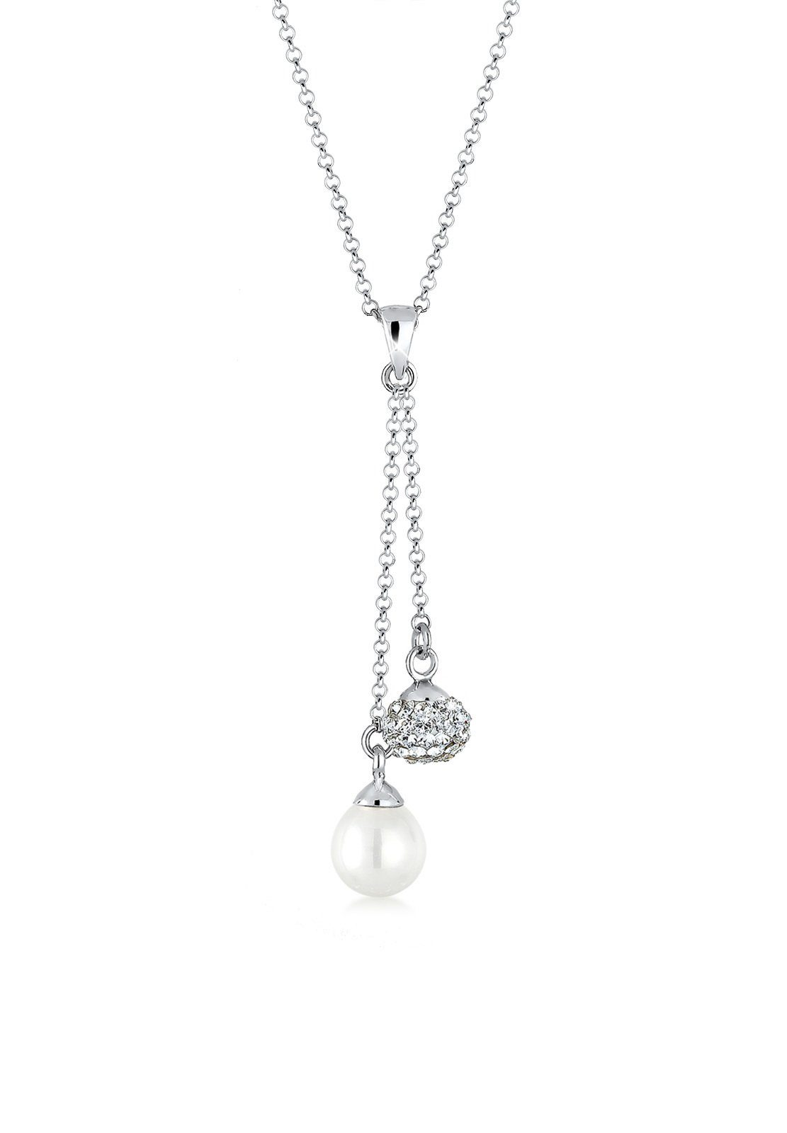 Elli Halskette »Perle Swarovski® Kristalle 925 Sterling Silber«