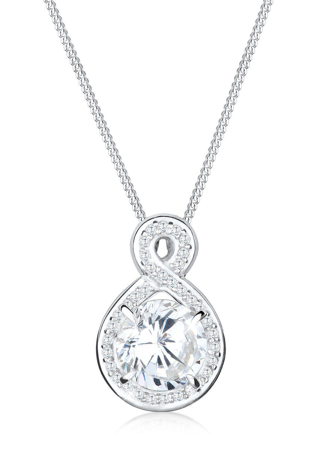 Elli Halskette »Unendlich Infinity Zirkonia 925 Silber Kassandra«