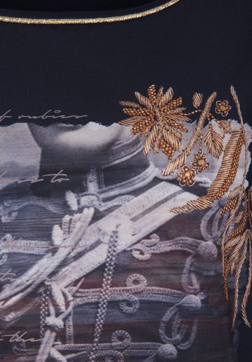 Tramontana 3/4-Arm-Shirt SATIN FRONT PANEL