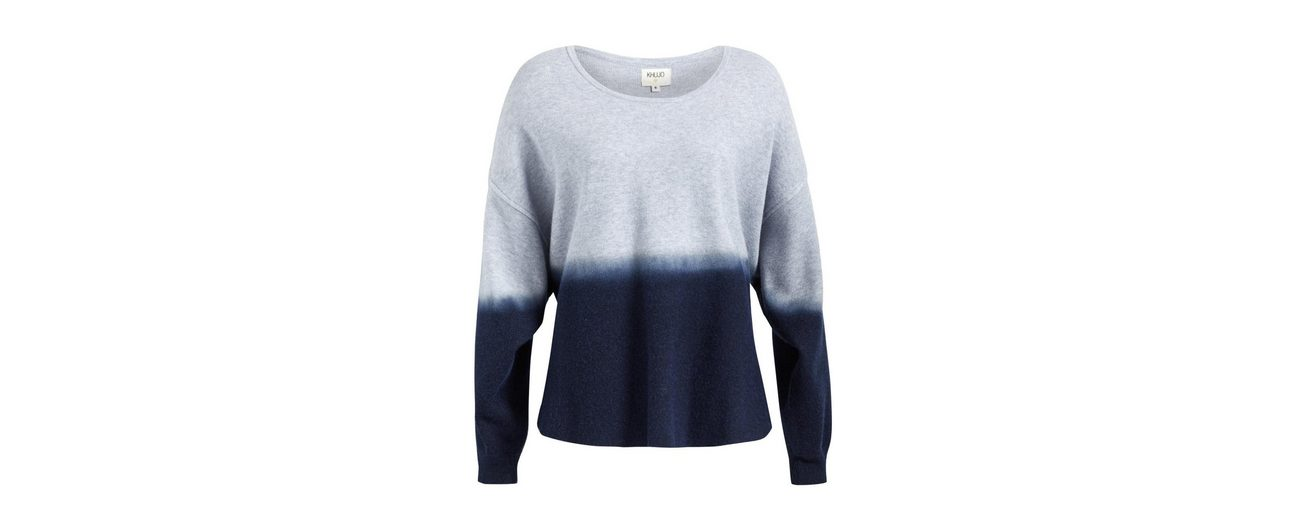 khujo Strickpullover ILVY, in Dip-Dye-Optik