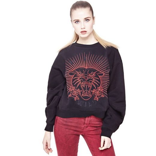Guess SWEATSHIRT TIGER-STICKEREI
