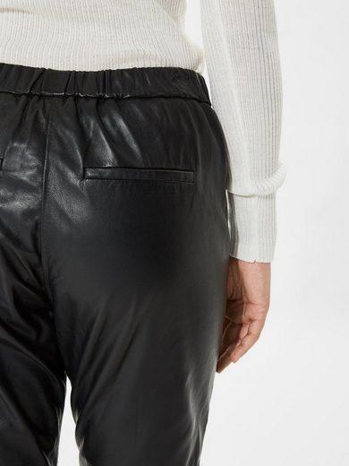 Selected Femme Kurz geschnittene Lederhose