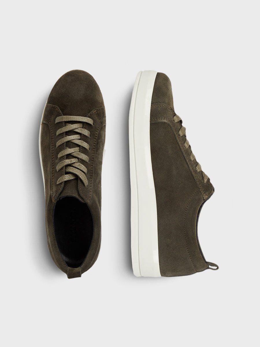 Bianco Flachform aus Wildleder Sneaker kaufen  Army Green