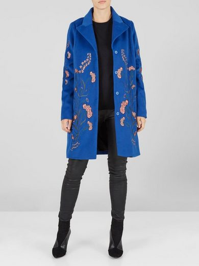 Y.A.S Bestickte blaue Jacke