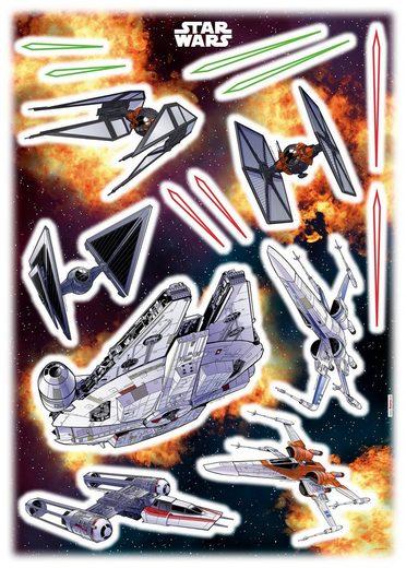 KOMAR Wandtattoo »Start Wars Spaceship«, selbsthaftend, rückstandslos abziehbar