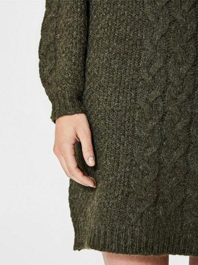Selected Femme Wollmix- Kleid mit langen Ärmeln