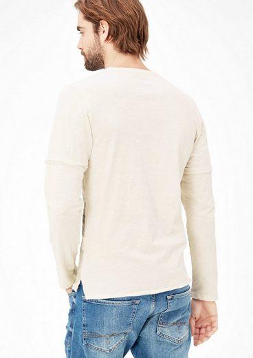 s.Oliver RED LABEL Slim: Printshirt im Layer-Look