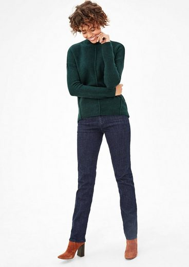 s.Oliver RED LABEL Smart Straight: Dunkle Stretchjeans