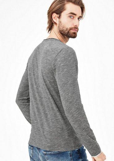 s.Oliver RED LABEL Gestreiftes Henley-Shirt aus Jersey