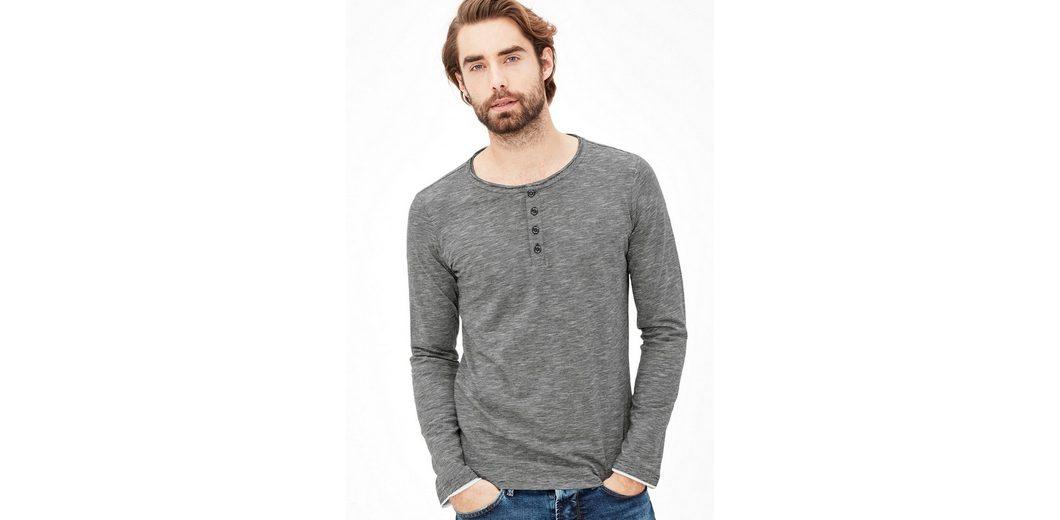 s.Oliver RED LABEL Gestreiftes Henley-Shirt aus Jersey Großhandelspreis cbNDCfxn