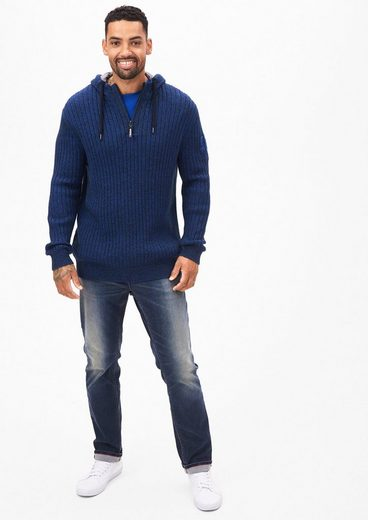 s.Oliver RED LABEL Melierter Outdoor-Hoodie