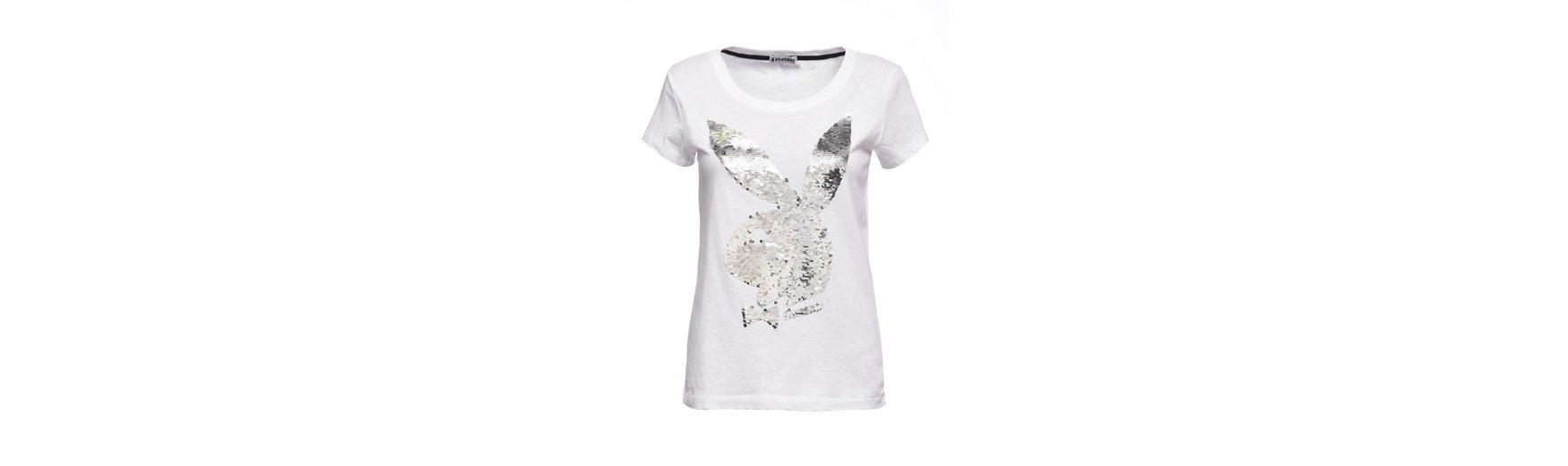 Playboy T-Shirt mit Paillettenbesatz Fälschung Günstig Online jVULyxTc